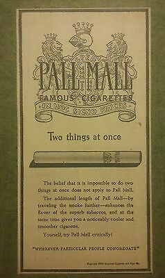 1940 Pall Mall Cigarettes Ad In Hoc Signo Vinces