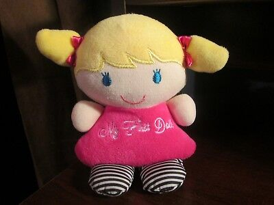 Carter's Child of Mine My first doll blonde hair with rattle plush
