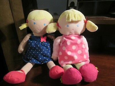 Carter's & Just one you blonde baby doll loveys in dresses VHTF