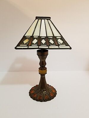 Stained Glass Looking Candle Holder Lamp Tiffany Style  Mosaic Tea Light