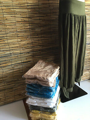 SPECIAL BARGAIN! Lot of 5 very good quality CALF LENGTH PANTS W/TIE SIDES.COLS.