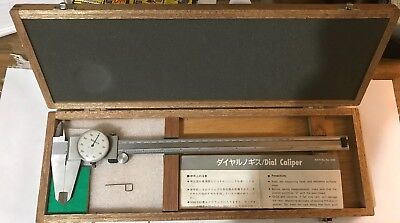 "MITUTOYO 12 Inch DIAL VERINER CALIPER NO 505-645-50  WITH CASE,  0 To 12""  Nice!"