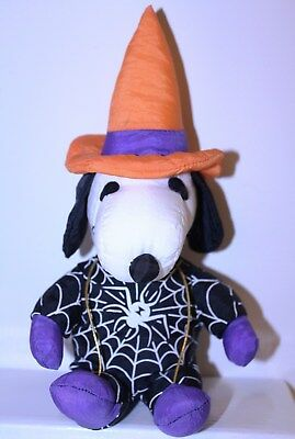 """Halloween Peanuts """"Snoopy in Witch Costume"""" 8"""" Plush Figure"""