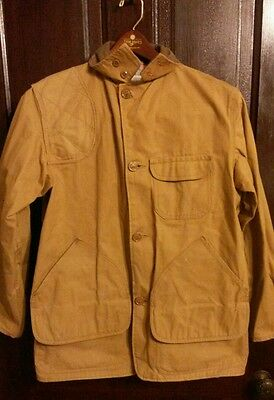 Vtg Western Field Hawthorne Canvas Hunting Jacket Game Pocket M or L  Shooting