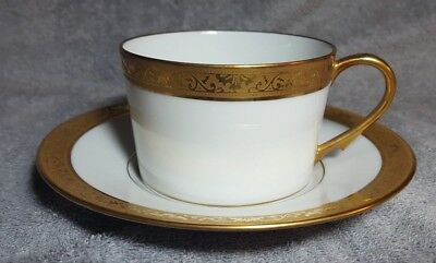CERALENE RAYNAUD LIMOGES AMBASSADOR GOLD-Cups and Saucers