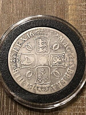 1672 UK CROWN  Silver Great Britain Crown in airtight holder.