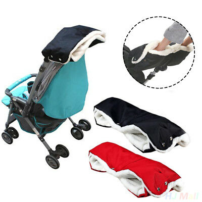 Baby Pram Pushchair Stroller Hand Muff Waterproof Warmer Gloves Carriage Winter