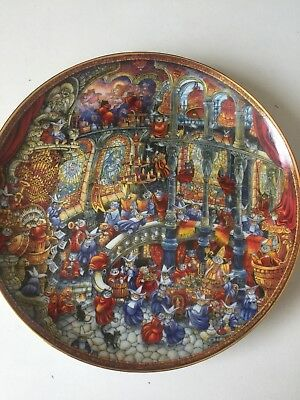 THE FRANKLIN MINT ~ 5 BILL BELL COLLECTOR PLATES ~ CATS - Purrfect Condition