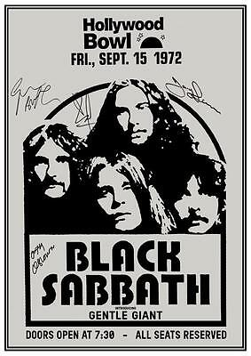 Black Sabbath  *LARGE POSTER*  Live @ Hollywood Bowl 1972 Gentle Giant AMAZING