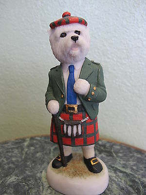 Robert Harrop Country Companions West Highland Terrier Traditional Scottish Kilt