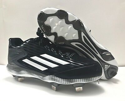 new styles cf821 6b97b Adidas Power Alley 3 Low Metal Baseball Cleats Mens Size 12 Black Silver  S84762