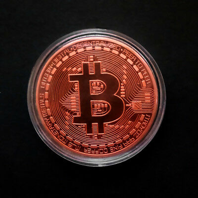 Copper Bitcoin Commemorative Round Collectors Coin Bit Coin Copper Plated Coins