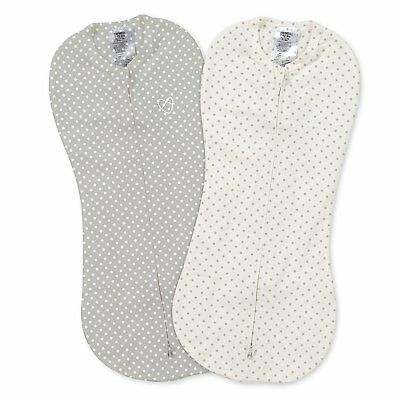 SwaddleMe Pod 2-Pack Baby Swaddle in Grey Star Dot Design for Ages 0 to 3 months