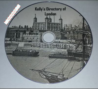 kellys Directories of London ebooks Kellys genealogy history in pdf file on disc