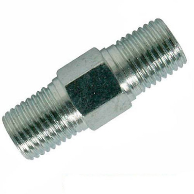 """Silverline 868632 - 2 quick couplers L. 25 mm with two threaded ends 1/4 """""""