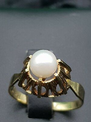 585 Gold Perlen Ring