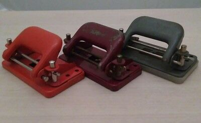 Vintage Czechoslovakian Trio of Mini Hole Punches