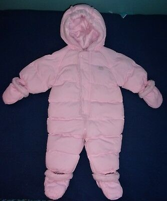 The Children's Place Infant Girl's Pink Insulated Snowsuit Pram Size 6-9 Months