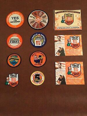 Home Depot Lot Of 92 Collectible Patches, Pins, olympics, kids workshop
