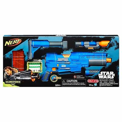 Nerf Gun Star Wars Rogue One Captain Cassian Andor Deluxe Blaster Rifle Target