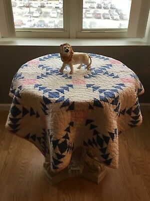 "SALE Antique Crib Quilt Flying Geese - table 41"" x 56"""