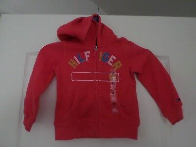 New with tags   Tommy Hilfiger girls hoodie, size 3T, color pink