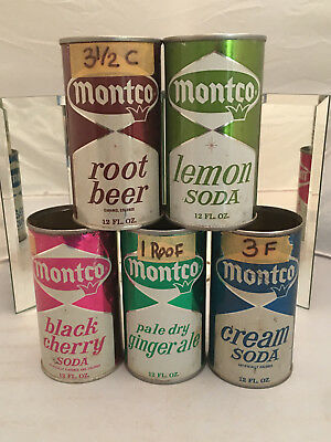 Five tough Montco Soda Cans