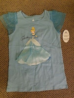 NWT~Disney Parks Princess Cinderella Shimmery T Shirt Size Girls 7-8-Giftable!