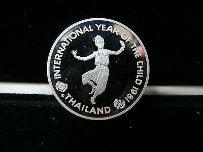 1981 Thailand 200 Baht Silver Proof Year of the Child