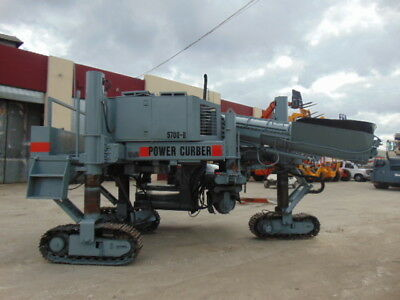 Power Curber 5700-B Curb Making Crawler Machine - Extra Forms Included - Deutz