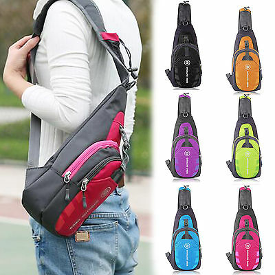 Men Outdoor Durable Nylon Small Chest Bag Travel Sport Shoulder Sling Backpacks