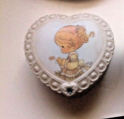 ENESCO PM MARCH HEART TRINKET BOX  Valentine 1996 PRECIOUS MOMENTS