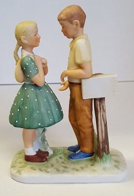Norman Rockwell-Figurine--1981 Gift World Of Gorham--A Day In The Life Of A Girl