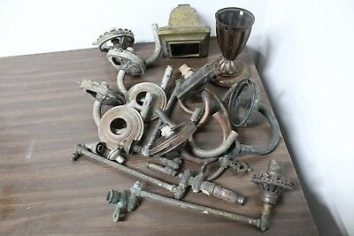 Lot Antique Brass Gas Light Lamp Valve Lot Vintage Victorian Steampunk Parts