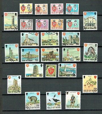 Isle Of Man - Selection Of Used Stamps (L8)