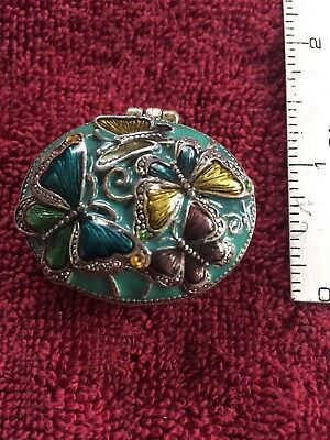 Antique Monet Butterfly Trinket Box with Jewels