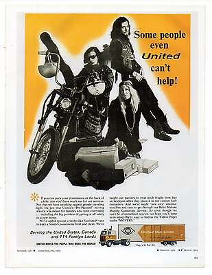 "BIKERS AD, Hippies, Repro 1960's Advertisement Art For Framing, 8.5"" x 6.5"""
