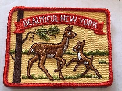 Vintage Patch Beautiful New York NOS Deer City 70s