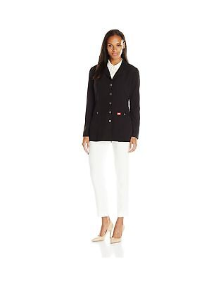 """Dickies Women's Xtreme Stretch 28"""" Snap Front Lab Coat Black XX-Large"""