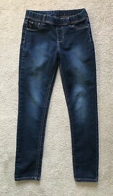 EUC Jordache Girls JEGGING Stretch Elastic Waist Blue Denim Wash Leggings 14 16