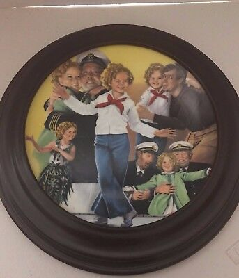 1983 SHIRLEY TEMPLE CLASSICS CAPTAIN JANUARY FIRST ED COLLECTOR PLATE with frame