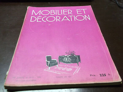 "Art déco, ""MOBILIER ET DECORATION"" Octobre - Novembre 1948"