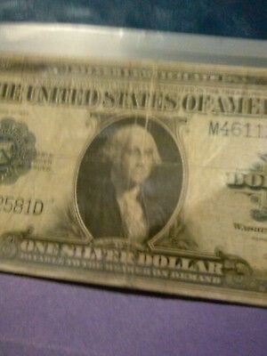One US silver paper dollar