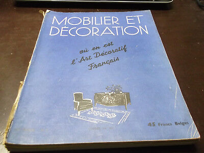 "Art déco, ""MOBILIER ET DECORATION"" Mars 1948"