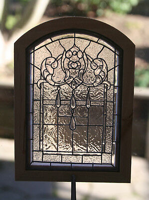 Dollhouse Miniature 1:12-Beautiful 'Beveled Stained Glass' Arched Window - OOAK