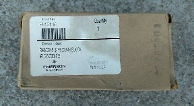 Emerson F015140 R66CB16 6PR CONN BLOCK ONE 6pr Connection