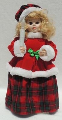 "Vintage Telco 19.5"" Animated Porcelite Motion-ette Christmas Doll Lights w/Box"