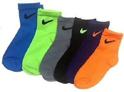 NEW Nike Boy's Quarter Socks Size 6-7 US Shoe Size 13C- 3Y Assorted Colors youth