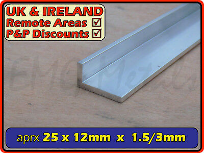 "Aluminium Angle (L section, edging, bracket, ally, alloy, trim) | 1"" x 1/2"""