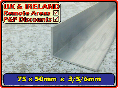 "Aluminium Angle (L section, edging, bracket, alloy,ally) | 75x50 mm / 3""x2"""
